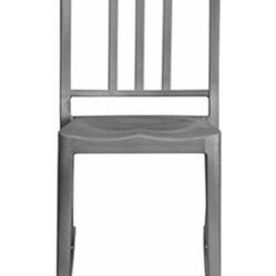 Emeco - Emeco | Heritage Rocking Chairs - Design by Philippe Starck.By Emeco.A rocking chair like none other! Strong vertical and horizontal lines combine to create the unique body which contrasts wonderfully with a softly curved rocking base at the bottom. Select with or without arms in Hand Brushed or Hand Polished finish.  You cannot mistake the Heritage collection for the original Emeco chair - Philippe Starck has transmitted his personality to the original classic and what results is modern, useful, and fun. There are stacking chairs and stacking barstools with or without the sharply curved side arms.Handmade from 80% recycled aluminum. Designed to last for 150 years. Heritage Rocking Chairs are tempered for ultimate strength in a proprietary three-step process. Emeco is the only company in the world to do this.