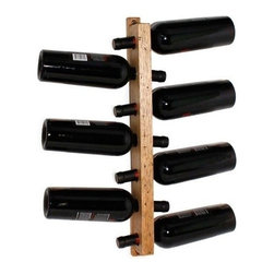 Wine Tree - This aged hickory Wine Tree mounts to the wall for a striking seven bottle display. A convenient, well-designed place to store a selection of your favorite bottles!