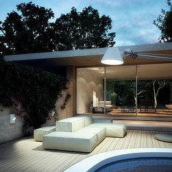 Artemide - Artemide Tolomeo XXL Floor Outdoor Lighting (AM-TolomeoXXL) - Light fixture with direct emission, with fluorescent sources