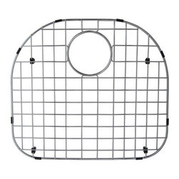Kingston Brass - Stainless Steel Grid for KUD24219BN & GKUS2321 - To prevent damage from your sink, this stainless steel grid from Kingston Brass safeguards any harm caused from overflowing kitchen appliances (pots and pans). The grid consists of horizontal and vertical bars and slots to allow dishes and bowls to be placed rather than the surface of the sink where scratches can form. A circular gap is also designed on the platform to allow easy access to the drain before washing your kitchen appliances.