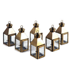 Riado - Mini Classic Lanterns AB, (Set of 6) - Minimalism! These traditional style lanterns are found all over the luxury homes and hotels and are great to light the entrance, the yard, or simply cluster around the pool, at sunset.