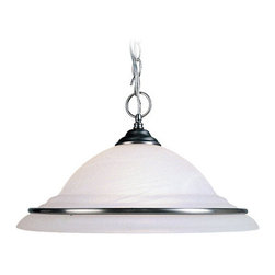 Livex Lighting - Livex Lighting 8039 1 Light 150W Pendant with Medium Bulb Base and White Alabast - 1 Light 150W Pendant with Medium Bulb Base and White Alabaster Glass from Cambridge SeriesProduct Features: