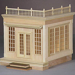 Real Good Toys - Real Good Toys Foxhall Conservatory Addition Kit - 603F - Shop for Dollhouses and Dollhouse Furnishings from Hayneedle.com! Add the luxury of a sun parlor to your collectible dollhouse with the Real Good Toys Foxhall Conservatory Addition Kit. Light will billow in the 18-pane windows to fill the expansive room with over 11-inch tall ceilings. French doors and a rooftop terrace (with pre-assembled railing) give this addition an even more glamorous feel. Crafted with smooth precision cut plywood this kit features exquisite details as minute as interior moldings around the doors and every window to enhance to the elegance of your dollhouse. A step-by-step instruction manual is included with detailed drawings to make construction fun and enjoyable. This kit will expand any dollhouse of your choosing or use with your Foxhall Manor dollhouse for a seamless addition.About Real Good ToysBased in Barre Vt. Real Good Toys has been handcrafting miniature homes since 1973. By designing and engineering the world's best and easiest to assemble miniature homes Real Good Toys makes dreams come true. Their commitment to exceptional detail the highest level of quality and ease of assembly make them one of the most recommended names in dollhouses. Real Good dollhouses make priceless gifts to pass on to your children and your children's children for years to come.