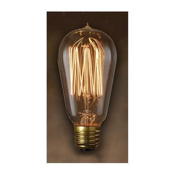 Bulbrite - Nostalgic Edison Squirrel Cage Light Bulbs - One pack of 6 Bulbs. Historic style. Intricate filament design. Bright filaments for warm and amber glow. Excellent replica of antique light bulbs. 120V E26 base 1910 incandescent bulb type. Dimmable. Wattage: 40W. Average hours: 3000. Color rendering index: 100. 360 degrees beam spread. Color temperature: 2100K. Lumens: 120. Can be used as indoor and outdoor. Perfect accent for any antique decor. Ideal for chandeliers, sconces, and outdoor lighting, signage and displays. Maximum overall length: 5 in.Meticulously crafted to preserve the look of early 20th-century lighting, Bulbrite's Nostalgic Collection is the perfect complement to any vintage or contemporary decor.