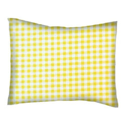 SheetWorld - SheetWorld Twin Pillow Case - Percale Pillow Case - Yellow Gingham Check - Pillow case is made of a durable all cotton percale/woven material. Fits a standard twin size pillow. Side Opening. Features a yellow gingham check print.