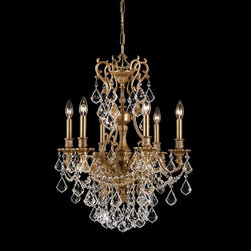 Crystorama Lighting Group - Yorkshire Ornate Aged Brass Six-Light Chandelier with Swarovski Strass Crystal - Crystorama's Yorkshire Collection is offered in our bestselling Aged Brass finish. Whether you choose clear crystal or golden teak crystal the Yorkshire's timeless design will help enhance any setting.  -Primary Material: Brass  -Crystal: Swarovski Strass  -Chain or Rod Length: 72inches  -Wire Length: 120inches Crystorama Lighting Group - 5146-AG-CL-S