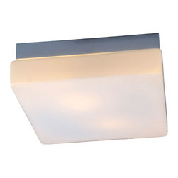 """IFN Modern - Speculant Square Drum Pendant - This contemporary pendant light can have 2 60W incandescent bulbs (sold separately) enclosed inside glass shade which leads to emission of soft diffused light.â— Metal, Glassâ— Brushed Nickel & White Finishâ— Incandescent 60 Watt Bulb (Not Included)â— 3lbsâ— 48"""" Cordâ— 110 Volts"""