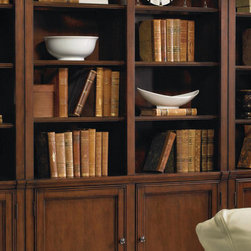 Hooker - Hooker Furniture Cherry Creek Wall Bookcase - For additional storage space above your entertainment  console, this hutch cabinet makes a handsome addition with its classic  build and ample storage space.