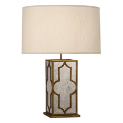 Robert Abbey - Addison Table Lamp, Weathered Brass/Pearl - -1-150W Max.
