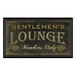 """The Artwork Factory - Gentlemen's Lounge Framed Artwork - Give your home bar or """"man cave"""" a gentile look with this museum quality print. You'll add some old-world whimsy to your decor and welcome the gents in style."""