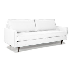 Younger - Lenny Sofa - With clean lines and spacious cushions, this modern sofa is minimalist in all the right ways. The brilliance of the design is in its simplicity, which instead of seeming harsh, comes off as a warm and inviting choice for your living room or office.