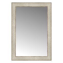 "Posters 2 Prints, LLC - 16"" x 23"" Libretto Antique Silver Custom Framed Mirror - 16"" x 23"" Custom Framed Mirror made by Posters 2 Prints. Standard glass with unrivaled selection of crafted mirror frames.  Protected with category II safety backing to keep glass fragments together should the mirror be accidentally broken.  Safe arrival guaranteed.  Made in the United States of America"
