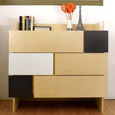 Modern Kids Dressers And Armoires Tetra Two 6 Drawers Storage cabinet by notNeutral