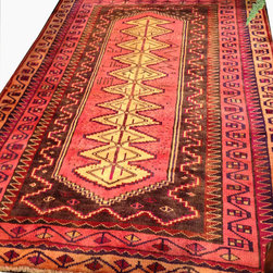 """Consigned Haute Exotic Nomad Rug - One of a kind  """"Tree of Life"""" pattern folk art at its finest with the artist first name and year 1932 inscribed. Very fine geometric patterns bring """"music to the eye""""."""