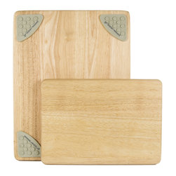 Architec™ Housewares - Architec™ Gripperwood™ Traditional Cutting Board Set - Architec™ Gripperwood™ Traditional Cutting Board is the perfect set!  NonSlip rubber feet injected into the wood using a patented heat pressure process. Natural beechwood. Set includes 8 x 11 and 11 x 14  cutting boards.