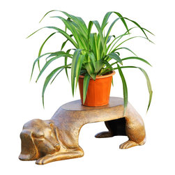 "SPI - Dog Plant Pot Holder - -Size: 7.5"" H x 25"" W x 11"" D"