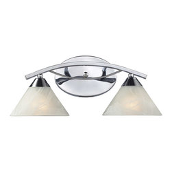 ELK Lighting - ELK Lighting 17021/2 Elysburg 2 Light Bathroom Vanity Lights in Polished Chrome - This 2 light Vanity from the Elysburg collection by ELK will enhance your home with a perfect mix of form and function. The features include a Polished Chrome finish applied by experts. This item qualifies for free shipping!