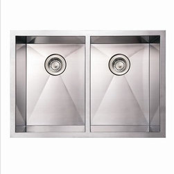 Whitehaus - Whitehaus Whncm2920Eq Noah's 2 Bowl - commercial double bowl undermount sink