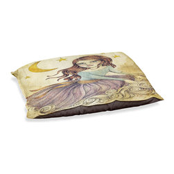"""DiaNoche Designs - Dog Pet Bed Fleece - Wishes - DiaNoche Designs works with artists from around the world to bring unique, designer products to decorate all aspects of your home.  Our artistic Pet Beds will be the talk of every guest to visit your home!  BARK! BARK! BARK!  MEOW...  Meow...  Reallly means, """"Hey everybody!  Look at my cool bed!""""  Our Pet Beds are topped with a snuggly fuzzy coral fleece and a durable underside material.  Machine Wash upon arrival for maximum softness.  MADE IN THE USA."""