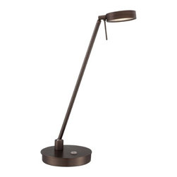 George Kovacs Lighting - Modern LED Desk Lamp in Copper Bronze Patina Finish - P4306-647 - Contemporary / modern copper bronze patina 1-light desk lamp. Takes (1) 8-watt LED bulb(s). Bulb(s) included. Dry location rated.