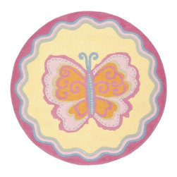 Safavieh - Kids Novelty Wool Round Rug (4 ft.) - Choose Size: 4 ft. High-quality . Hand tufted. Multicolor. Made in India. Pile height: 0. 63 in. This is made with premium New Zealand wool lending a lush and warm feel that will go great in any Childs play area or bedroom. Safavieh offers style that kids can grow up with in a sophisticated collection designed for boys and girls. Safavieh Kids rugs come in cheerful patterns that will stand up to wear. Hip and stylish, Safavieh designs are the focal point of your Childs room and the foundation for great interior designs. Care Instructions: Vacuum regularly. Brushless attachment is recommended. Avoid direct and continuous exposure to sunlight. Do not pull loose ends clip them with scissors to remove. Remove spills immediately; blot with clean cloth by pressing firmly around the spill to absorb as much as possible. For hard-to-remove stains professional rug cleaning is recommended.