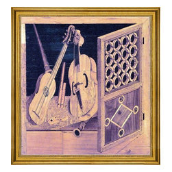 "Antonio and Paolo Mola-16""x16"" Framed Canvas - 16"" x 16"" Antonio and Paolo Mola Musical Instruments framed premium canvas print reproduced to meet museum quality standards. Our museum quality canvas prints are produced using high-precision print technology for a more accurate reproduction printed on high quality canvas with fade-resistant, archival inks. Our progressive business model allows us to offer works of art to you at the best wholesale pricing, significantly less than art gallery prices, affordable to all. This artwork is hand stretched onto wooden stretcher bars, then mounted into our 3"" wide gold finish frame with black panel by one of our expert framers. Our framed canvas print comes with hardware, ready to hang on your wall.  We present a comprehensive collection of exceptional canvas art reproductions by Antonio and Paolo Mola."