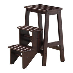 "Boraam - Boraam 24"" Step Stool in Cappuccino - 24"" Step Stool in Cappuccino by Boraam Hard to reach places? The Boraam Step Stool is just what you need! This well designed 3 level step-stool is perfect for those hard to reach places. Made out of solid hardwood construction and a safety latch, this stool is safe for everyone to use."