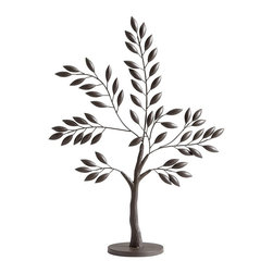 Cyan Design - Cyan Design Sapling Tree Large Transitional Sculpture X-93650 - The large size and nature-inspired charm of this Cyan Design sculpture helps to make it an elegant addition to any space. This sapling tree sculpture is adorned with beautifully rounded buds and paired with slender framed branches. It also features a Graphite finish.