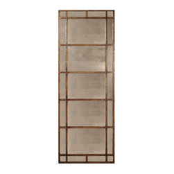 Uttermost - Avidan Antique Gold Mirror - Mirrors are timeless decorating pieces for any home. Hang this vertically or horizontally depending on your needs and watch how it elegantly reflects light throughout the day and evening. The antique-style mirror panels and gold leaf accents will instantly add charm and sophistication to your room.