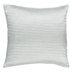 "Surya - Surya PC-1008 Shapely Stripe Pillow, 20"" x 20"", Poly Fiber Filler - Create a look of contemporary charm with this elegant pillow. Featuring a subtly chic design and striking silver coloring, this piece will pair perfectly with a range of styles, securing itself as the crowning jewel of any space. This pillow contains a zipper closure and provides a reliable and affordable solution to updating your home's decor."