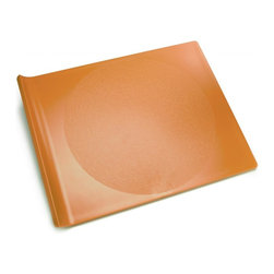 G&F - Cutting Board, Orange, Large - Preserve cutting boards are dishwasher safe and made in the USA from 100% BPA free, recycled #5 plastic. The unique curve of the Cutting Board handle makes food transfer easy and it's surface is gentle on knives.