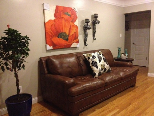 Need help with accent wall color - Brown goes with what color ...