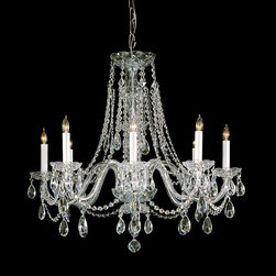 Crystorama - Crystorama 1138-PB-CL-MWP Traditional Crystal 8 Light Chandeliers in Polished Br - Traditional crystal chandeliers are classic, timeless, and elegant. Crystorama''s opulent glass arm chandeliers are nothing short of spectacular. This collection is offered in a variety of crystal grades to fit any budget. For a touch of class, order this collection in Gold for traditionalists or in Chrome to match your contemporary or transitional decor.