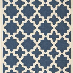 "Safavieh - Safavieh Courtyard CY6913-268 7'10"" Square Navy Rug - Safavieh's Courtyard collection was created for today's indoor/outdoor lifestyle. These beautiful but practical rugs take outdoor decorating to the next level with new designs in fashion-forward colors and patterns from classic to contemporary. Made in Turkey with enhanced polypropylene for extra durability, Courtyard rugs are pre-coordinated to work together in related spaces inside or outside the home."