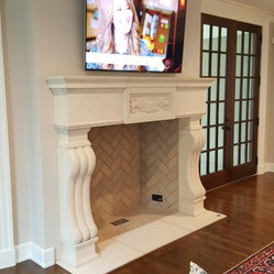 CAST STONE FIREPLACE MANTELS