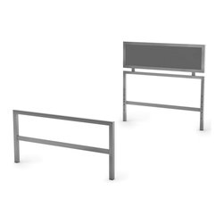Amisco - Twin Headboard and Footboard in Gray - Reversible. Made from metal. 77.75 in. L x 38.25 in. W x 77.75 in. H (30 lbs.)The perfect bed to support their imagination.