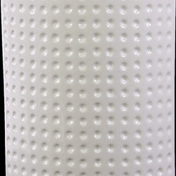 """Benzara - Cylindrical Shaped Ceramic Vase With Hammered Design in White (Large) - The Cylindrical Shaped Ceramic Vase With Hammered Design in White (Large) will give your home a fresh new look. Made from ceramic, the vase has a stylish cylindrical shaped body with a simple yet elegant contemporary design. Dressed in a lovely white shade, the ceramic vase is covered with dots from head to toe and bears a hammered design that is grand and simply eye candy. Use it as a standalone decor item or combine it with flowers and give your home a sprightly new look. The dimensions of the Cylindrical Shaped Ceramic Vase With Hammered Design in White (Large) are 7.75""""x4.5""""x11.25""""H. Ceramic; White; 7.75""""x4.5""""x11.25""""H; Dimensions: 8""""L x 5""""W x 11""""H"""