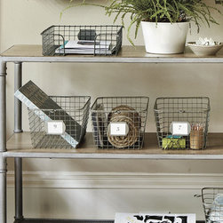 Ballard Designs - PE Collection Gym Basket - These have been on my organizational wish list for some time. They are great for a number of things, but I think they would be most happy housing gloves, hats and scarves.