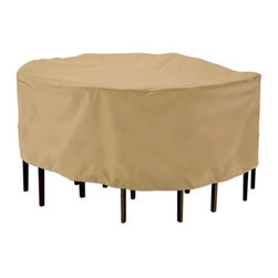 "Fifthroom - 69"" Round Piazza Table and 6 Standard Chair Cover -"