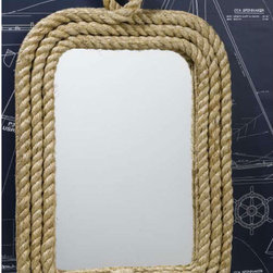 Know Your Ropes Wall Mirror by Two's Company - We're wild about adding rope to a room, and this jute mirror frame is the perfect nautical accent.