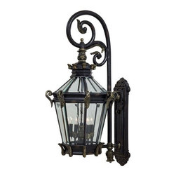 The Great Outdoors - The Great Outdoors GO 8933 5 Light Outdoor Wall Sconce Stratford Hall C - Five Light Outdoor Wall Sconce from the Stratford Hall CollectionFeatures: