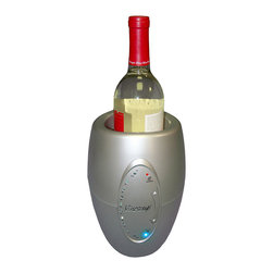 Vinotemp - Vinotemp Single Bottle Wine Chiller - Cool it — quickly! Or warm it, as the case may be. This nifty device brings your wine to optimal serving temperature and keeps it that way as you savor the bottle.