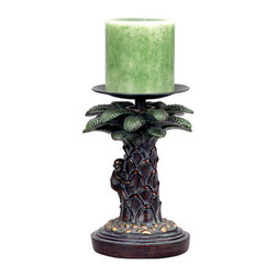 "Cal Lighting - Cal Lighting BO-868 Monkey Tree 8.5"" Candle Holder - Features:"