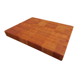 Armani Fine Woodworking - End Grain Cherry Butcher Block Cutting Board - This beautiful, handmade End Grain Cherry Butcher Block Cutting Board will travel from my small shop directly to your kitchen...I'm confident that you'll love the impeccable quality and care that goes into every handmade piece.