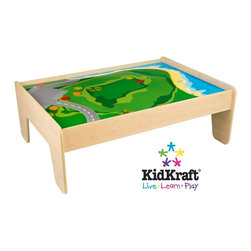KidKraft - Train Table - Natural by Kidkraft - KidKraft's Train Table is kid-sized for hours of effortless fun. With a wide, generous play table, our train table has several unique features.