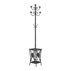 Sterling Industries - Innistone-Coat Rack With Umbrella Stand - Innistone-Coat Rack With Umbrella Stand