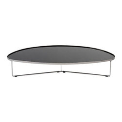 Billy Coffee Table by Cattelan Italia - The Billy coffee table by Cattelan Italia is a slick piece for your stylish space. Billy's polished, high-fashion look compliments any contemporary space with ease. Table top available in colored or mirrored glass. Choose from red, black, brown, grey or anthracite painted glass, or mirrored glass.