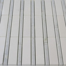RATTAN WHITE THASSOS WITH BLUE CELESTE LINES glass tile - shop glass tiles at gl