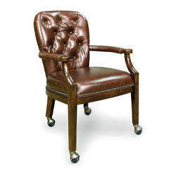 California House - erik chair w/ casters (leather) - Manufactured in the USA, we are proud to offer our customers this premium game room furniture from a third generation, family-owned company.