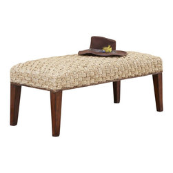 Home Styles - Home Styles Cabana Banana II Bench in Honey Finish - Home Styles - Bedroom Benches - 540328 - Bring back the island essence with the Cabana Banana II Bench from Home Styles.  This eco-friendly piece features frames that are made of 100 percent sustainable natural materials.  Construction is from hand braided four over two woven pattern banana leaves; mahogany solids and plywood in a honey finish.